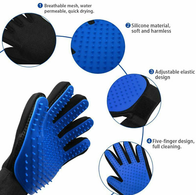 Cleaning Brush Magic Glove Pet Dog Cat Massage Hair Removal Grooming Left Hand