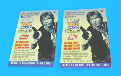 STAR WARS  GALAXY TOPPS  1994 Two (2) Promo Cards - P5 & P6  -