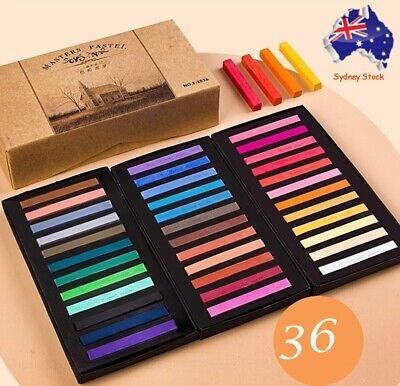 36 Color Soft Pastel Artist Chalk Full Length Square Stick High-Quality Pigments