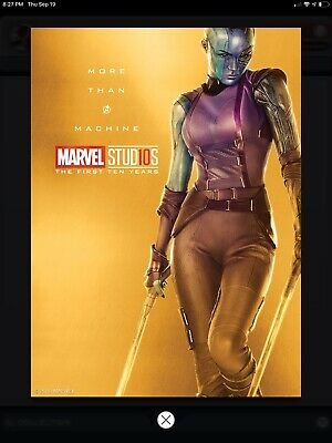 2019 Topps MARVEL COLLECT NEBULLA GUARDIANS THE FIRST 10 TEN YEARS GOLD POSTER