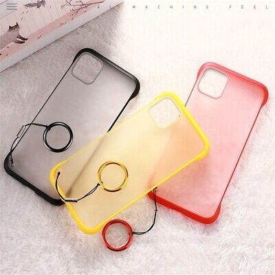 Half Frame Ultra Thin Case For iPhone 11 Pro Max Transparent Matte Cover Case aa
