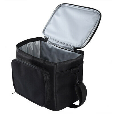 Large Insulated Lunch Bag Box Cooler Tote Roomy Compartments For Travel Picnic