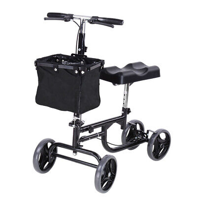 Steerable Knee Walker Scooter - Mobility Alternative Crutches Wheelchair Basket