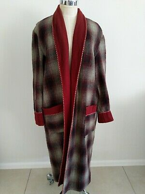A Challenge Garment From Norwellan Pure Wool Dressing Gown Unisex Tartan