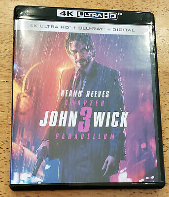 John Wick: Chapter 3 Parabellum 4K and Blu-ray-NO DIGITAL-Keanu Reeves