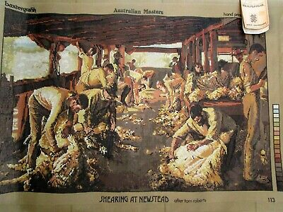 Tapestry  Canvas Australian Masters Shearing At Newstead Tom Roberts