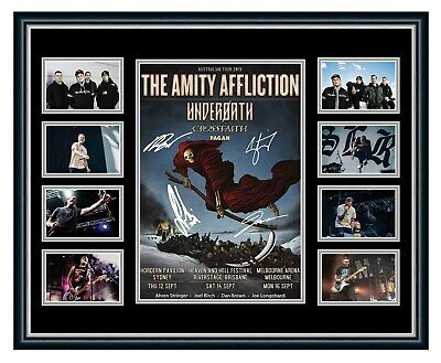 The Amity Affliction 2019 Tour Signed Limited Edition Framed Memorabilia Misery