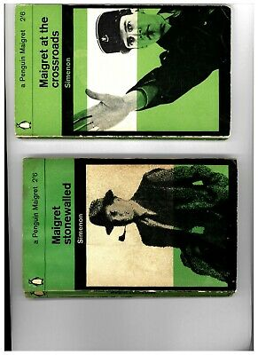Maigret at the Crossroads / Stonewalled Green Penguin 1st 1963