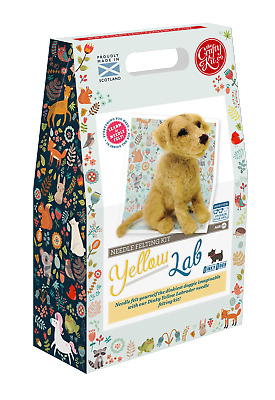 The Crafty Kit Company Dinky Dogs Yellow Labrador Needle Felting Kit