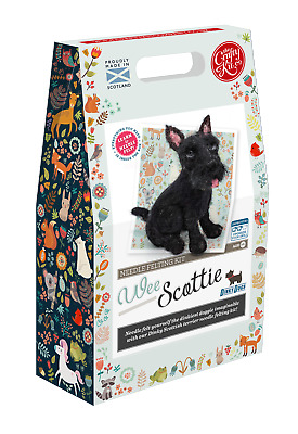 The Crafty Kit Company Dinky Dogs Wee Scottie Needle Felting Kit