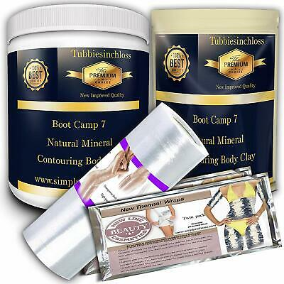1 litre/1000ml professional body clay mud wrap. Detox, inch-loss, slimming firm
