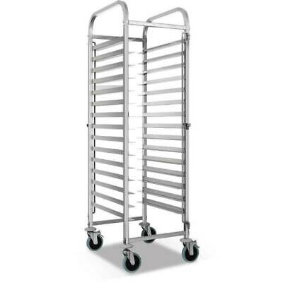 15 Tier Stainless Steel Gastronorm Trolley Bakery Suit 60*40cm Tray