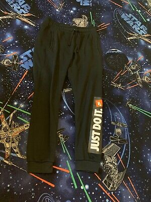 Black Nike 'Just Do It' Joggers Size Small