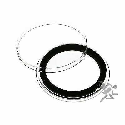 (50) Air-tite 38mm Black Ring Coin Holder Capsules for American Silver Dollars