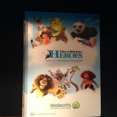 Woolworths Dreamworks Heroes Collectors Album Complete with Cards