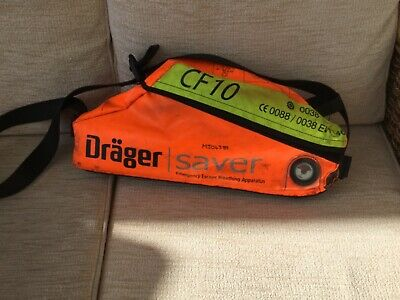 Drager saver CF10 emergency escape mask hood unused and sealed