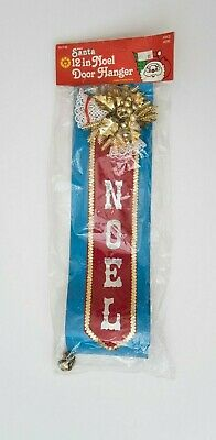 Vintage 80s Deadstock Christmas Decoration Door Hanger Noel Bell Hong Kong