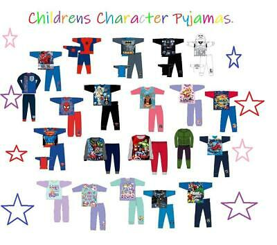 Kids Girls Boys Character Pyjamas Official Pj Set 4-12 Years