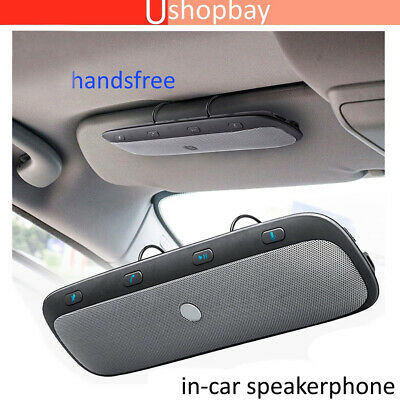 Wireless Bluetooth Handsfree Car Speaker Phone Visor Clip Kit for iphone Android