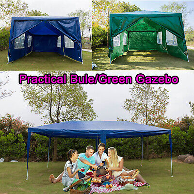 Gazebo Marquee Party Tent Waterproof Garden Patio Outdoor Canopy 3x6m 6Sides UK