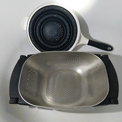 oxo good grips convertible colander sieve sink cafe strainer dexas silicone rare