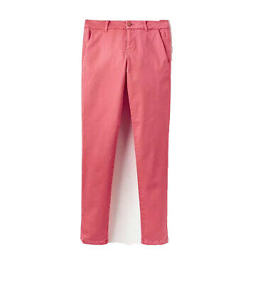 Joules Womens Hesford Chinos Trousers in Red Sky Size UK 12