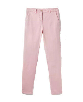 Joules Womens Hesford Chinos Trousers in PALE PINK Size UK 20
