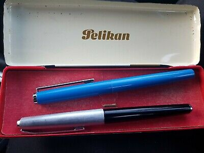 Pelikan 21 Silvexa 18K Gold Nib Fountain Pen + Pelikan Fountain Pen Gift And...
