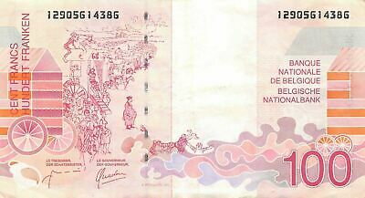 Belgium   100  Francs  ND. 1995  P 147a  Circulated Banknote MeLB2
