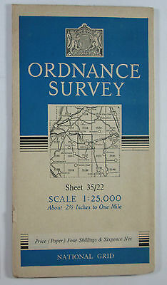 1950 old OS Ordnance Survey 1:25000 First Series Prov Map NY 22 Keswick 35/22