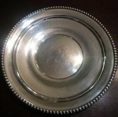 Candlewick Sterling Silver Plate Platter Tray H298 International Silver Co 6 Toz
