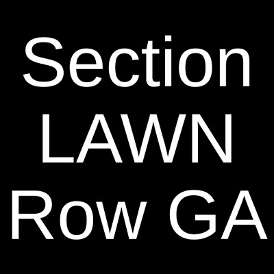 4 Tickets Zac Brown Band 10/25/19 Walmart AMP Rogers, AR