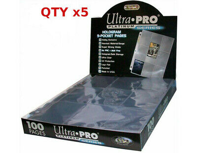 5 ULTRA PRO PLATINUM 9-POCKET Card Pages Sheets Protectors
