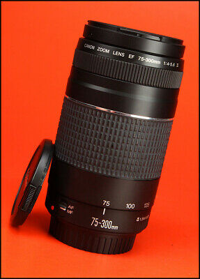 Canon EF 75-300mm F4-5.6 Autofocus Zoom Lens III  Sold With Both Lens Caps