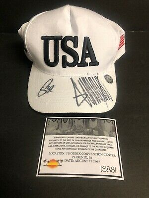 President Donald Trump & Mike Pence Signed Autograph Campaign Hat With Coa