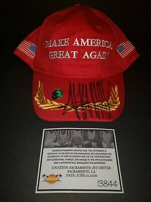 President Donald Trump Signed Campaign Hat USA Autograph With COA