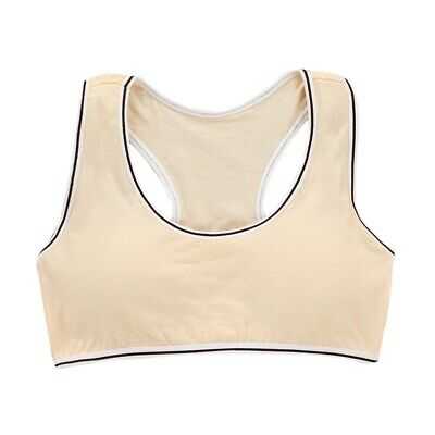 Girls Underwear Children Comfy Cotton Bra Teens High Stretchy Sports Vest Tops