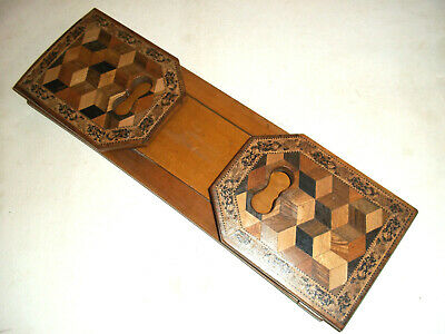 Fine  Antique Tunbridge Ware Book Slide, Book Holder , Book Shelf c1880