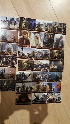 Bundle 28 different Lord of the Rings 2002  the Two Towers Topps Cards