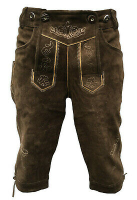 "Mens Real Leather Bavarian Lederhosen UK SIZE 34"" / EUR 50 Knee length"