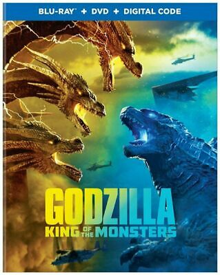 Godzilla: King of the Monsters (Blu-ray, DVD, Digital) w/Slipcover NEW