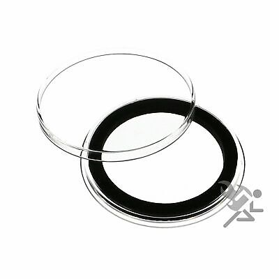(15) Air-tite 38mm Black Ring Coin Holder Capsules for American Silver Dollars
