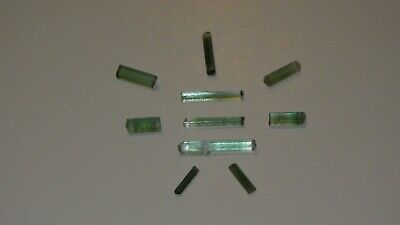 9.4 Ct All Natural Bluish Green Afghanistan Tourmaline Crystal Lot