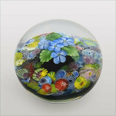 Danny Salazar LE 2008 Floating Bouquet signed glass paperweight / presse papiers