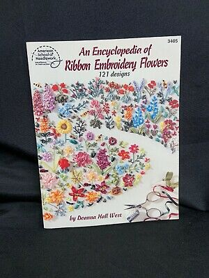 An Encyclopedia of Ribbon Embroidery - 121 Designs Pattern Instruction Book