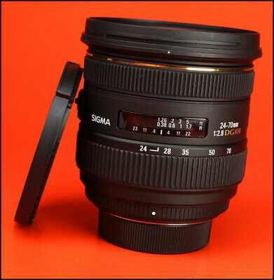 Sigma EX 24-70mm F2.8 DG HSM Lens for Nikon  With Front & Rear Caps,