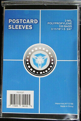(200) Csp Standard Postcard Soft Poly Acid Free Storage Sleeve Bag Holders