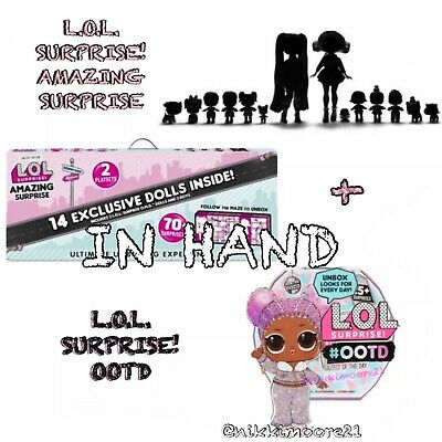 In Hand LOL AMAZING SURPRISE 14 Exclusive Dolls Winter Disco OMG Tots Lils Pets