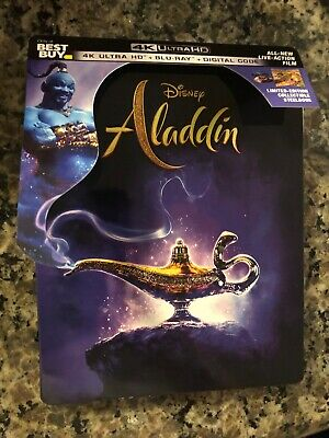 Aladdin Live Action 2019 SteelBook ONLY Includes J Card