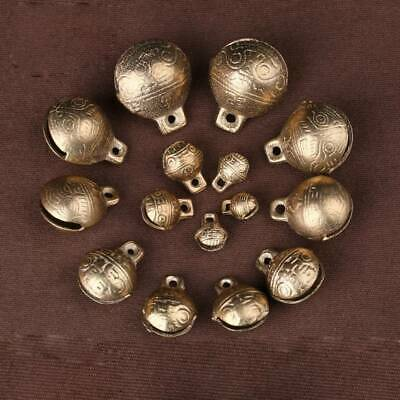 9~28mm Bronze Tibetan Brass Metal Jingle Bells Bead Dangle Charms Beads Crafts